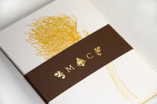 Invite pack with belly band - wedding invite