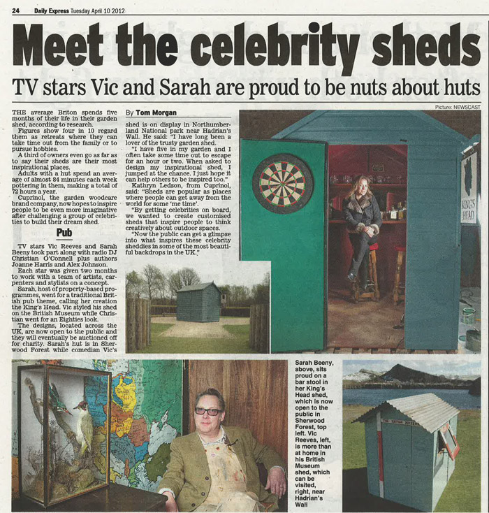 Daily Express Celebrity Sheds