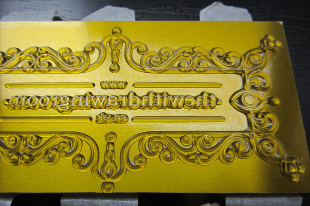 custom letterpress block